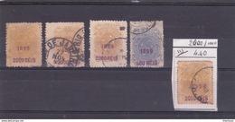 Bresil Surcharge 1899 Violette N° 111 * 4 Et 108 - Usados