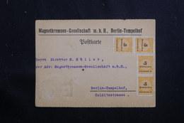 ALLEMAGNE - Carte Commerciale De Berlin Pour Berlin, Affranchissement Plaisant ( Période Inflation )  - L 61345 - Deutschland