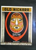 Ancienne Etiquette De Rhum - RUM OLD NICKARA - Ets SAINT POL  - Courtrai (Belgique) - Rhum