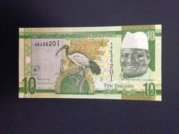 Gambia,2015- 10 Dalasis. Prefix A. UNC. - Gambie