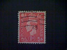 Great Britain, Scott #259, Used(o), 1941, King George VI, 1d, Vermillion - 1902-1951 (Könige)