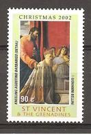 ST.VINCENT - 2002 Natale GIOVANNI BELLINI S.Marco Presenta A.Barbarigo (chiesa S.Pietro Martire, Murano) Nuovo** MNH - Cristianesimo