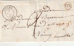 "Frankreich / 1847 / Vorphila-Brief Landpost-Stempel ""OR"" (Orgine Rural), K2 DELME (BJ77) - 1801-1848: Voorlopers XIX"