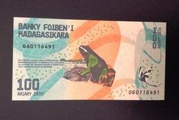 Madagascar,2017?- 100 Ariary.Prefix G. UNC. - Madagascar