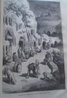 Les Grottes Des Gitanos Au Sacro Monte  -  Grenade - Granada - Spain Espana, Engraving 1864 TDM1864.2.404 - Estampas & Grabados
