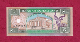 Somaliland, 1994- 5 Somaliland Shilling. Prefix AH. UNC - Somalia
