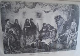 Senoras Consultant Une Gitana Du Sacro Monte  -  Grenade - Granada - Spain Espana, Engraving 1864 TDM1864.2.406 - Estampas & Grabados