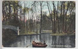 (91065) AK Berlin, Tiergarten, Neuer See, Brücke, Boot, Vor 1945 - Alemania