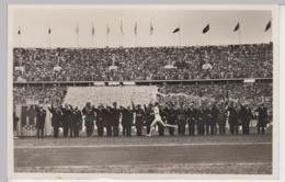(91066) AK Berlin, Olympische Spiele, Ankunft Fackelläufer 1936 - Alemania