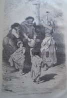 Danse De Petites Gitanas Au Sacro Monte  Grenada - Granada - Spain Espana, Engraving 1864 TDM1864.2.411 - Estampas & Grabados