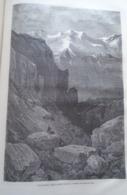 La Panderon Dans La Sierra Nevada   Grenada - Granada - Spain Espana, Engraving 1864 TDM1864.2.413 - Estampas & Grabados