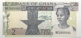 Ghana - 2 Cedis - 1982 - PICK 18d - NEUF - Ghana