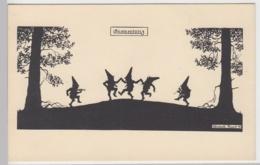 (93355) AK Elsbeth Forck, Schattenbild, Gnomentanz, Vor 1945 - Silhouette - Scissor-type