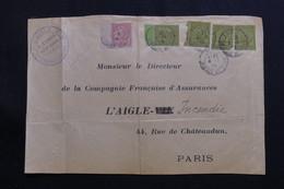 TUNISIE - Affranchissement Plaisant Sur Devant D'enveloppe Commerciale De Tunis En 1904 Pour Paris - L 61362 - Tunisie (1888-1955)