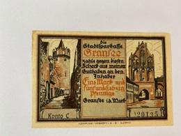 Allemagne Notgeld Gransee 1 Mark 75 - [ 3] 1918-1933 : Weimar Republic