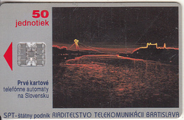 SLOVAKIA - Bratislava By Night, Second Issue, Chip SC7, CN : C32141064, Tirage %15000, 02/93, Used - Slowakije