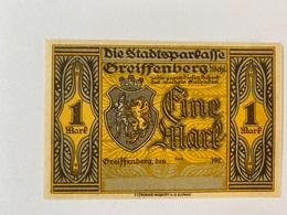 Allemagne Notgeld Greissenberg 1 Mark - [ 3] 1918-1933 : Weimar Republic