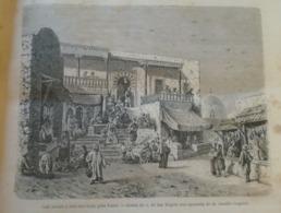 Cafe Maure A Sidi Bou Said Pres Tunis-Tunisie Tunisia  - Africa -gravure -  Engraving 1864 TDM1865.1.1 - Estampas & Grabados