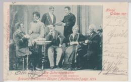 """(97882) AK Brauers Rossweiner Sänger, Aus Spiel """"Die Schwiegermütter"""" 1902 - Cirque"""