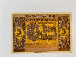 Allemagne Notgeld Greissenberg 3 Mark - [ 3] 1918-1933 : Weimar Republic