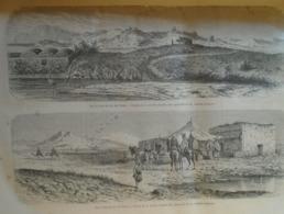 Sur Le Bord Du Lac De Tunis Verso Mosquée Dans Le Quartier Juif -Tunisie Tunisia - Africa -gravure -   1864 TDM1865.1.4 - Estampas & Grabados