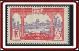 Gabon 1910-1922 - N° 43 (YT) N° 43 (AM) Neuf *. - Neufs