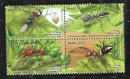 BRAZIL 2013 INSECTS ANTS BLOCK  MNH - Brasilien