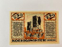 Allemagne Notgeld Konigswinter 25 Pfennig - [ 3] 1918-1933 : Weimar Republic