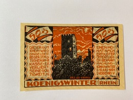 Allemagne Notgeld Konigswinter 50 Pfennig - [ 3] 1918-1933 : Weimar Republic