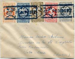 A. E. F. LETTRE DEPART PEDIPOSTE MAYUMBA POUR LE GABON - A.E.F. (1936-1958)