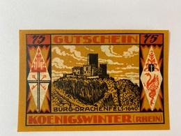 Allemagne Notgeld Konigswinter 75 Pfennig - [ 3] 1918-1933 : Weimar Republic