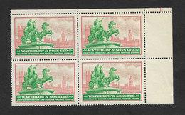 Vignette Waterlon & Sons Stamp Printers Londres Grande-Bretagne Cinderella Waterlon & Sons London United Kingdom - Werbemarken, Vignetten