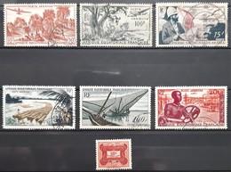 AFRIQUE EQUATORIALE FRANCAISE (AEF) - AÉRIEN - N°50-51-55-58-59-60 Et TAXE - N°12 - A.E.F. (1936-1958)