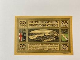 Allemagne Notgeld Pfaffendorf 75 Pfennig - [ 3] 1918-1933 : Weimar Republic