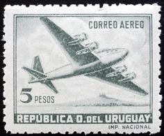 1947  URUGUAY Mnh AIR MAIL Yvert A135 - Quadrimotor Aircraft Four-engine - Uruguay