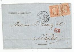 "- SEINE - PARIS - Etoile N°1 S/TP Napoleon III N°23x2 + ""PD"" Rouge + Càd Octogonal Levée Except.  - 1866 - 1862 Napoleon III"