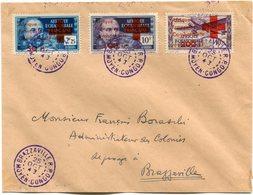 A. E. F. LETTRE AFFRANCHIE AVEC LES N°165/166 + LE PA 29 DEPART BRAZZAVILLE 25 OCT 43 MOYEN-CONGO POUR L'A.E.F. - A.E.F. (1936-1958)