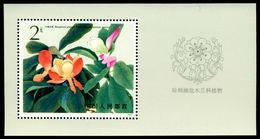 CHINA 1986 Magnolia Flower,Plant,Tree,Blume,Fiore,Fleur,Flore,Blüte,M.Bl.37,MNH - Rosen