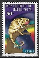 HAUTE VOLTA   -   1966.    Y&T N° 168 *.   Caméléon - Alto Volta (1958-1984)