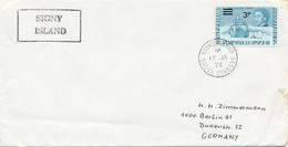BAT -  BRITISH ANTARCTIC TERRITORY  - SIGNY ISLAND / SOUTH ORNEYS  -  1973 ,  Forschungsschif John Biscoe - Briefe U. Dokumente