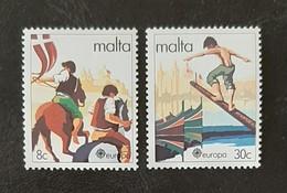 MALTE   Europa 1981   N° Y&T  616 Et 617  ** - Malta