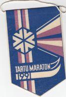 Tartu Maraton 1991 Pennant  ( Ski Marathon) - Invierno