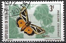 HAUTE VOLTA   -   1971  .  Y&T N° 244 Oblitéré  -   Papillon - Alto Volta (1958-1984)