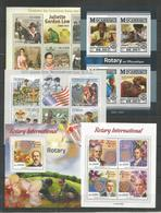 5 Stamps - MNH - Organizations - Rotary - Scouting - 2010 - 2015 - Rotary, Club Leones