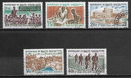 HAUTE VOLTA   -  1972  . Y&T N° 273 à 277 Oblitérés.  Série Complète - Alto Volta (1958-1984)