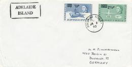 BAT -  BRITISH ANTARCTIC TERRITORY  - ADELAIDE ISLANDS  -  1973 ,  Forschungsschif John Biscoe , Flugzeug Biber - Territorio Antartico Britannico  (BAT)