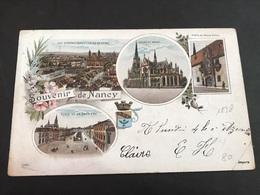 CPA 1898 Lithographie Souvenir De Nancy église Place - Nancy