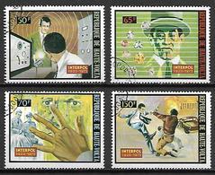 HAUTE VOLTA   -  1973  . Y&T N° 296 à 299  Oblitérés.   Série  INTERPOL. - Alto Volta (1958-1984)