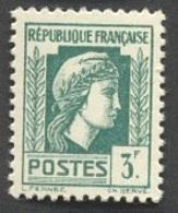 France N°642  Neuf ** 1944 - Francia
