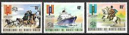 HAUTE VOLTA  - 1974 . Y&T N° 323 à 325 Oblitérés.   UPU. Diligence, Bateau, Facteur à Cheval. - Alto Volta (1958-1984)